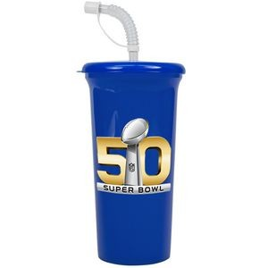 Digital 32 oz. Sport Sipper Cup with Straw Lid