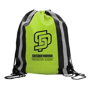 "The Reflector 14"" x 17"" Drawstring Backpack"
