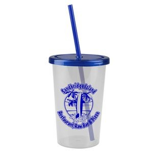 The Patriot 20 oz. Travel Tumbler with Flat Straw Lid